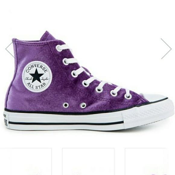 NWT Converse Chuck Taylor Purple Velvet High tops 994306fd6ac4